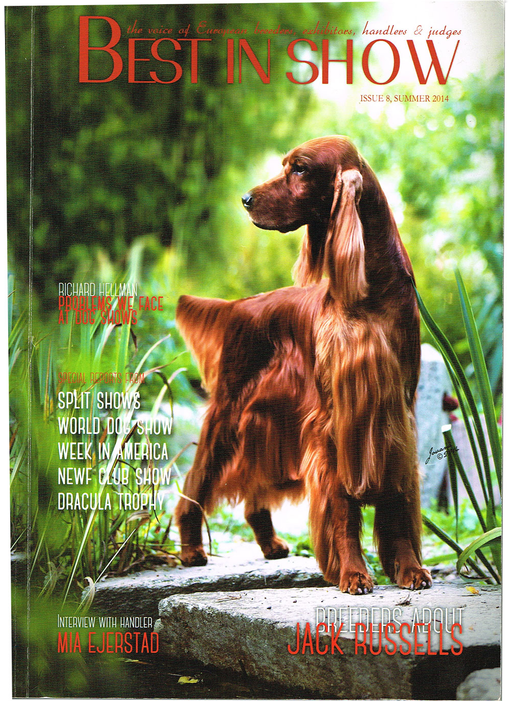 MORGAN - on the cover of Best In Show Magazine, 2014